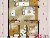 龙湖时代天街户型图4栋SOHO户型 2室2厅1卫1厨