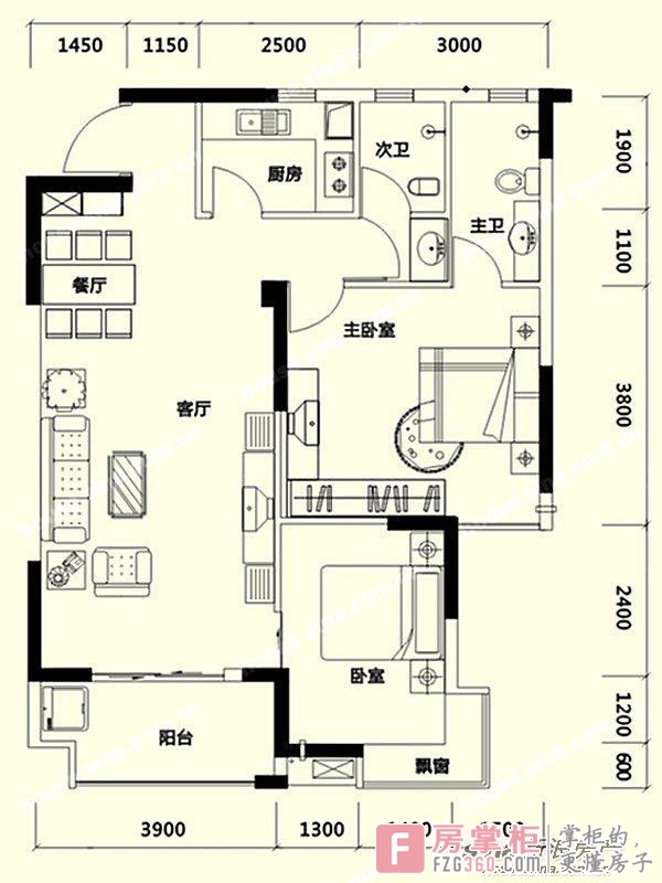 凯通国际城Ⅱ期凯通中心户型图-长沙房掌柜