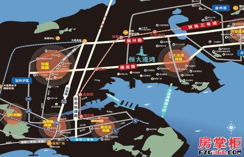 恒大港湾区位图