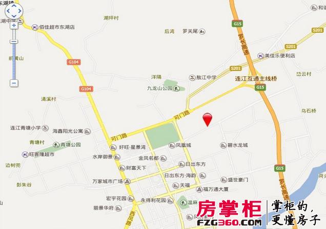 福州市区及周边各个乡镇,可门路,文笔路,敖江路环绕周边,通达连江全城