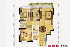 万象城益佳苑5期18栋标准层G户型 3室2厅2卫1厨