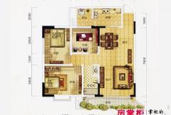 万象城益佳苑5期18栋标准层H户型 3室2厅1卫1厨
