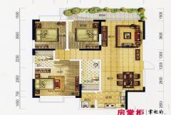 万象城益佳苑5期16栋17栋标准层A户型 3室2厅2卫1厨