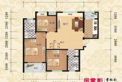 鹏程金色城市C2户型图 3室2厅2卫1厨