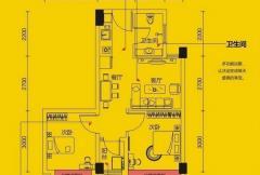 象山博望园I户型 2室2厅1卫1厨