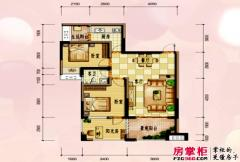 兴荣郡二期6号楼标准层B-4阳光房户型 2室2厅1卫1厨