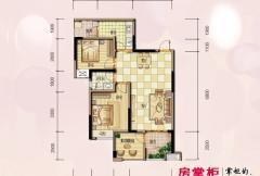 兴荣郡二期二批7栋9栋标准层B-3户型 2室2厅1卫1厨