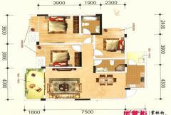 联发君澜天地12栋B2户型图 3室2厅2卫1厨