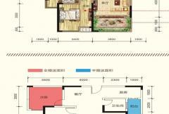 慧佳城5#户型C 3室2厅1卫
