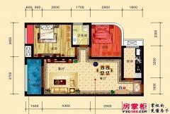 慧佳城1期17#B户型2房2厅一卫 2室2厅1卫1厨