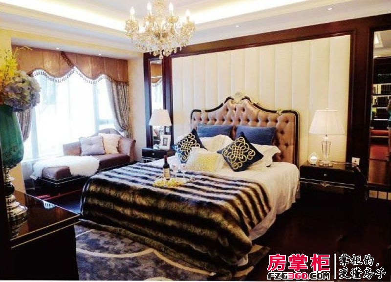 中海元居9号楼九宫殿样板房卧室(2012.12.25)