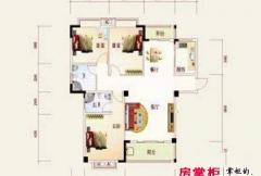 盛祥现代城15#A户型图 3室2厅2卫1厨