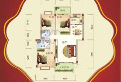盛祥现代城26#楼B户型 3室2厅2卫1厨