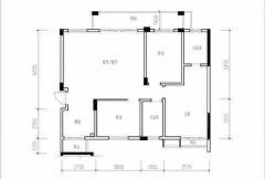雁山新城三房户型 3室2厅2卫1厨