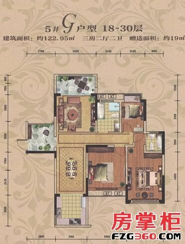 中豪国际5#G18~30层户型
