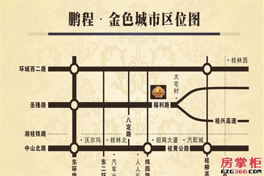 鹏程金色城市交通图