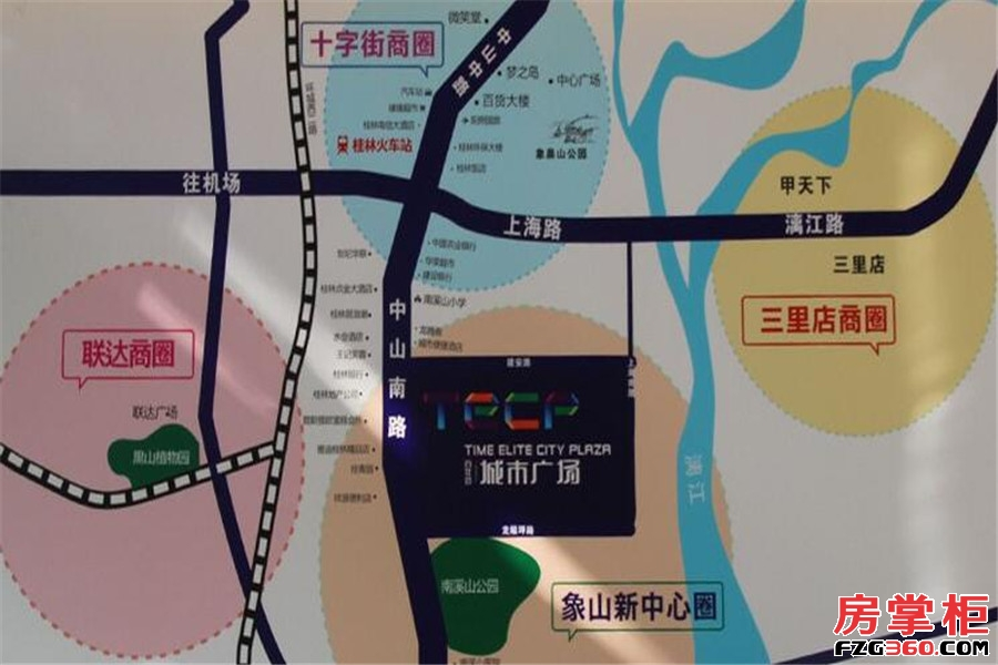 百年荟城市广场交通图