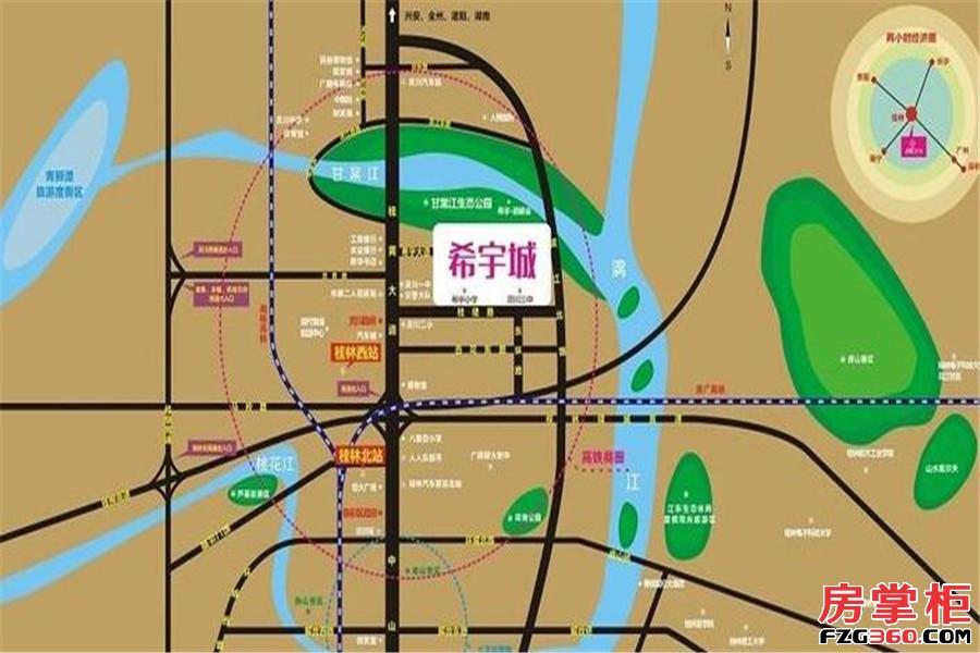 希宇城交通图
