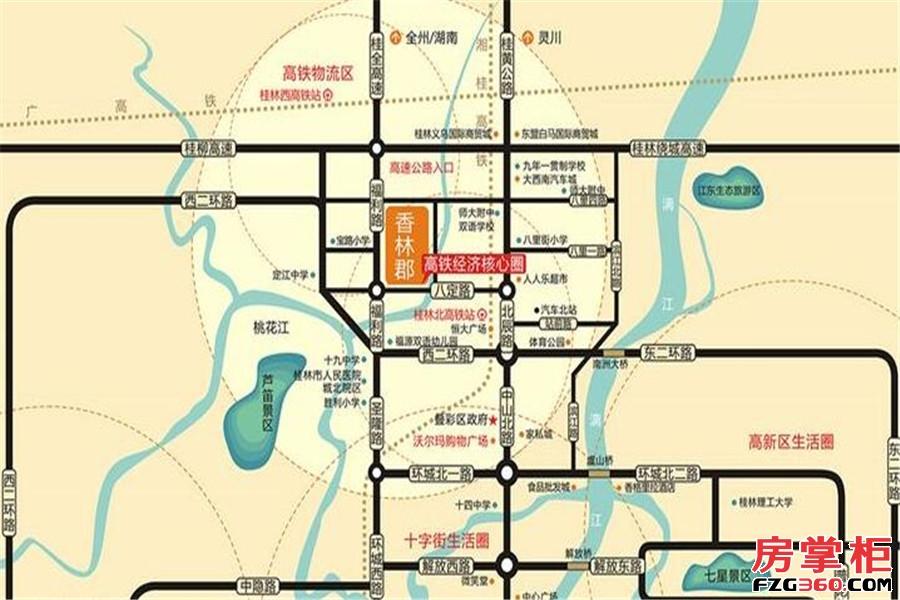 香林郡交通图