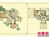 绿城桃花源户型图园景别墅户型7: 4室2厅4卫1厨