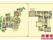 绿城桃花源户型图园景别墅户型6: 5室3厅5卫1厨