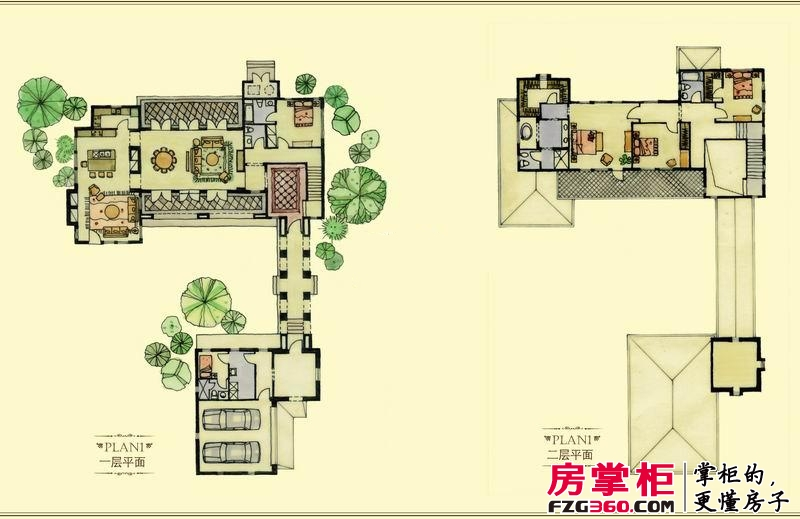 绿城桃花源户型图园景别墅户型2: 5室2厅5卫1厨