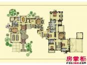 绿城桃花源户型图园景别墅户型3: 5室3厅6卫1厨