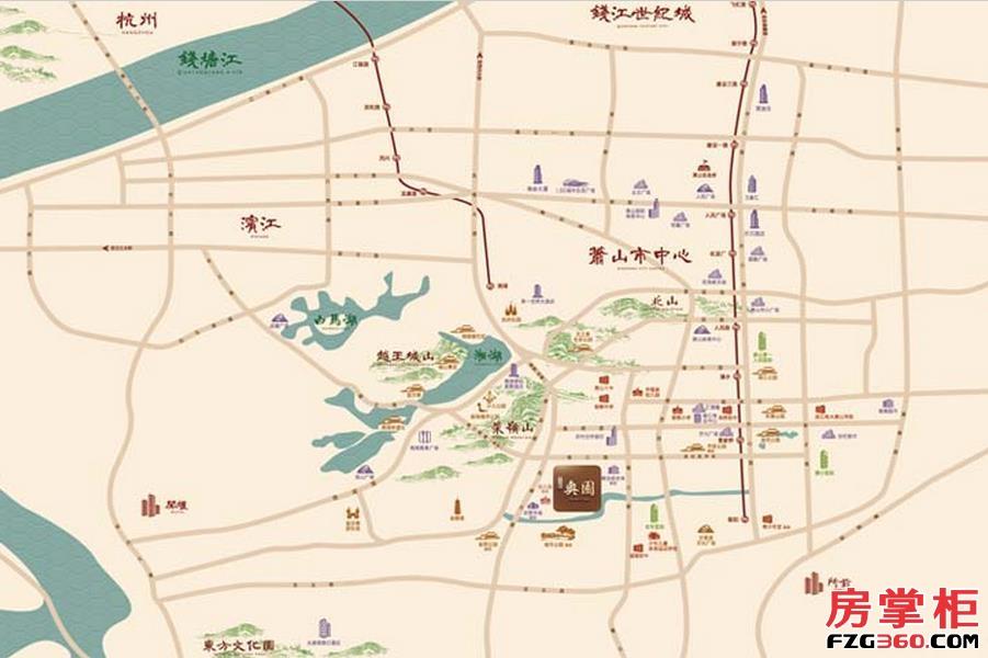 北辰奥园交通图