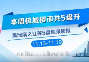 11.13-11.19杭城共有5盘开盘