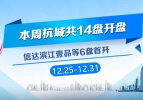 12.25-12.31杭城共有14盘开盘