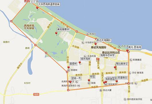 海南华侨中学学区划分图