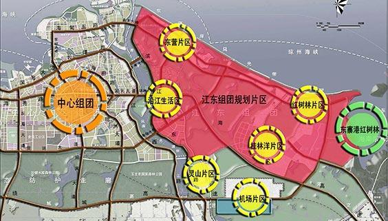 江东区域发展规划图
