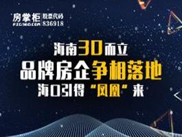 """海南三十而立 品牌房企争相落地 海口引得""""凤凰""""来"""