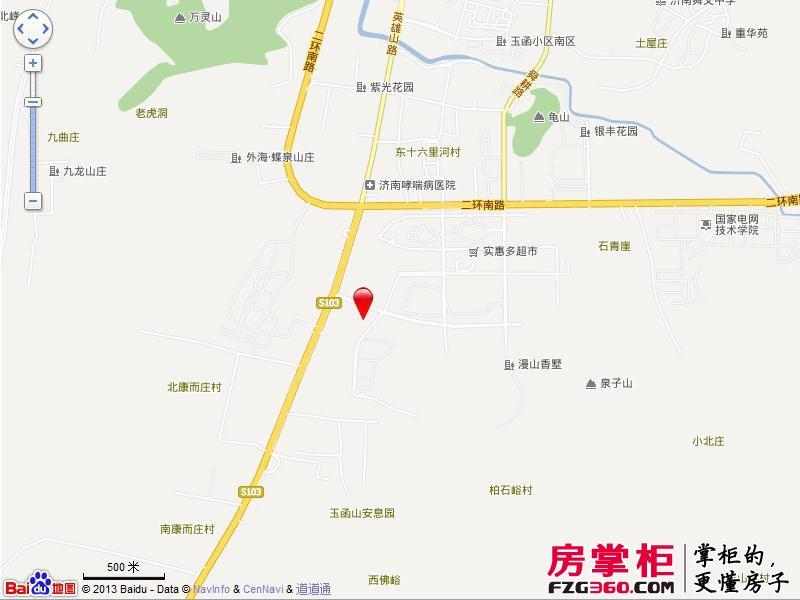 济南鲁能领秀城交通图