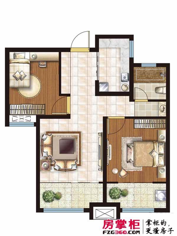 祥泰城85平米精致两房户型全面解读 南北通透