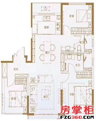 绿地IFC中央公馆B10地块127㎡户型