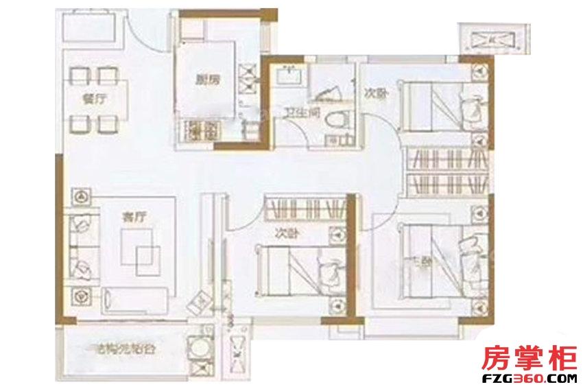 绿地IFC中央公馆B10地块103㎡户型