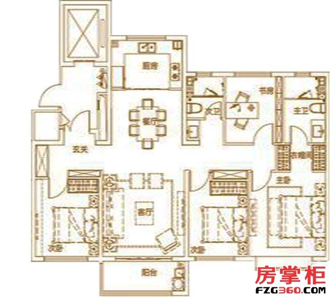 绿地IFC中央公馆B8150㎡户型