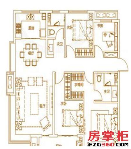绿地IFC中央公馆B8140㎡户型