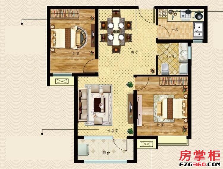 三庆御园1、2号楼倾城美居户型