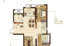 保利建业・香槟国际一期罗兰百悦户型 2室2厅2卫1厨
