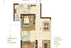 保利建业・香槟国际一期博林格户型 2室2厅1卫1厨