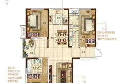 保利建业・香槟国际一期凯歌户型 3室2厅2卫1厨