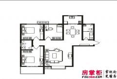 隆安东方明珠C户型 3室2厅2卫