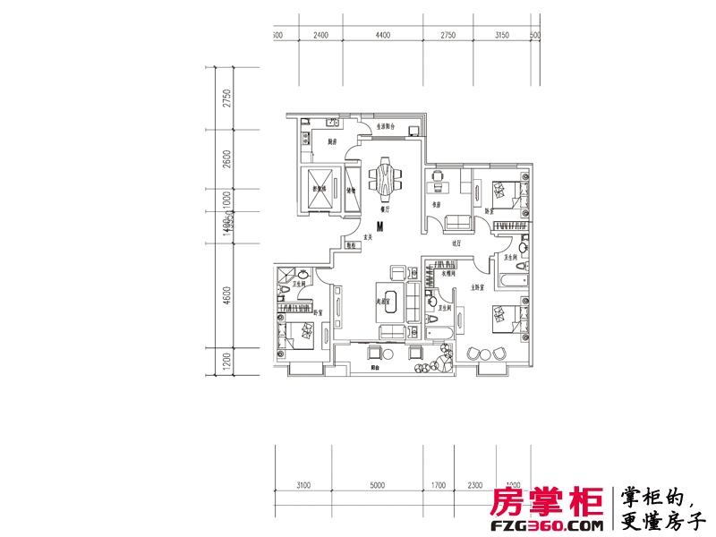 元阳隆城一期M户型