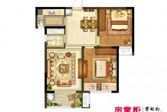 洛阳升龙又一城一期A2户型 2室2厅1卫1厨