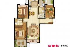 洛阳升龙又一城一期B1户型 3室2厅2卫1厨