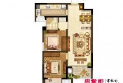 洛阳升龙又一城一期B2户型 2室2厅1卫1厨