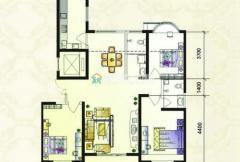 紫金风景线G户型 3室2厅2卫1厨