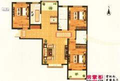 美景城1-A户型 3室2厅2卫1厨